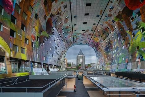 MVRDV Markthal mercato coperto e appartamenti a Rotterdam
