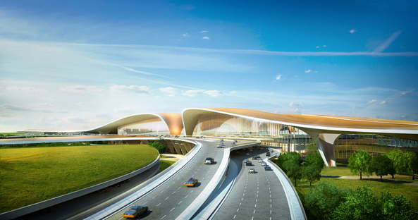 Zaha Hadid e ADPI Beijing New Airport Terminal Building