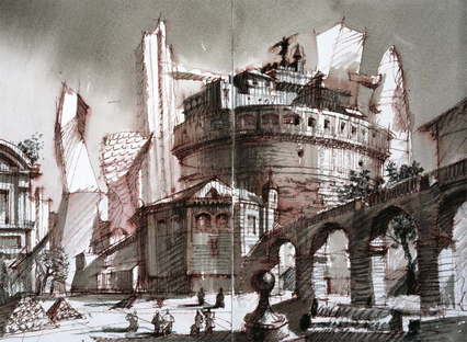 Old and new, architectural fantasy - 24x33 - © Sergei Tchoban
