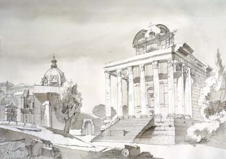SpazioFMG Mostra Sergei Tchoban Realtà e Fantasia - Cartoline dall'Italia