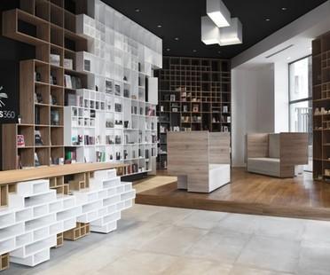 Ts 360 la libreria slovena a Trieste di SoNo Arhitekti