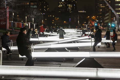 Luminotherapie Impulsion installazione luminosa sonora Montreal