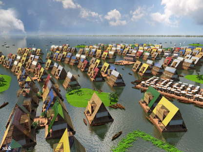 Design for water communities Lagos Nigeria by NLE (c) NLE