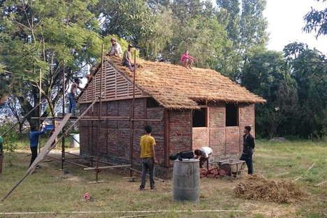 Housing for 2015 Nepal earthquake victims by architect Shigeru Ban