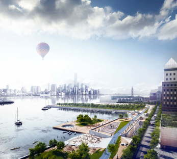 Ideas for rebuilding Hoboken, New Jersey after Hurrican Sandy - copyright OMA