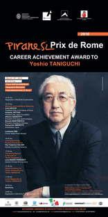Yoshio Taniguchi vince Piranesi Prix de Rome