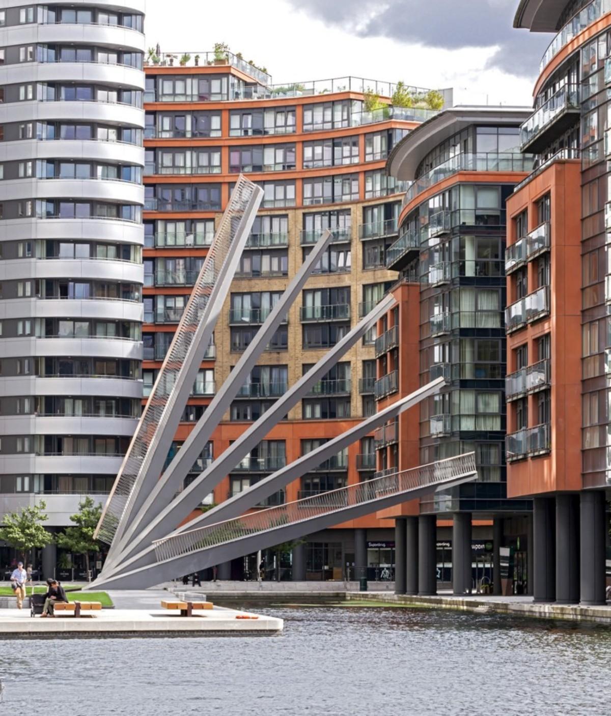 Knight Architects Ponte Pedonale Merchant Square Bridge Londra