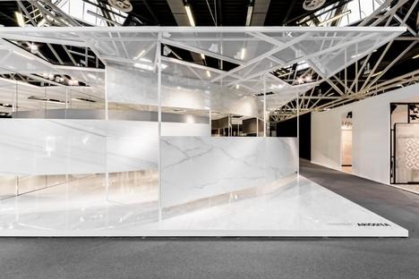 Ariostea Twister Pavilion superfici Ultra per Cersaie 2016