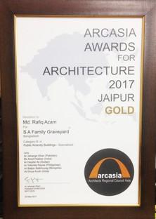 Rafiq Azam vince Arc Asia Gold Medal 2017