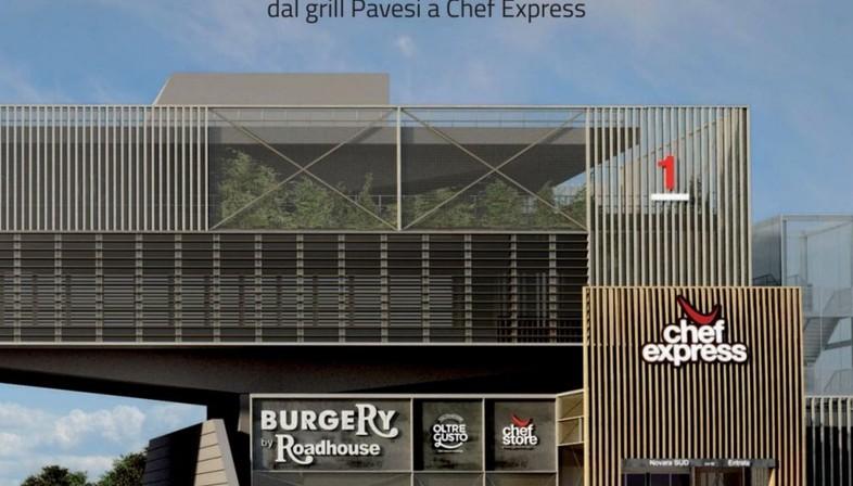 Iosa Ghini Associati nuova area ristoro A Ponte di Novara