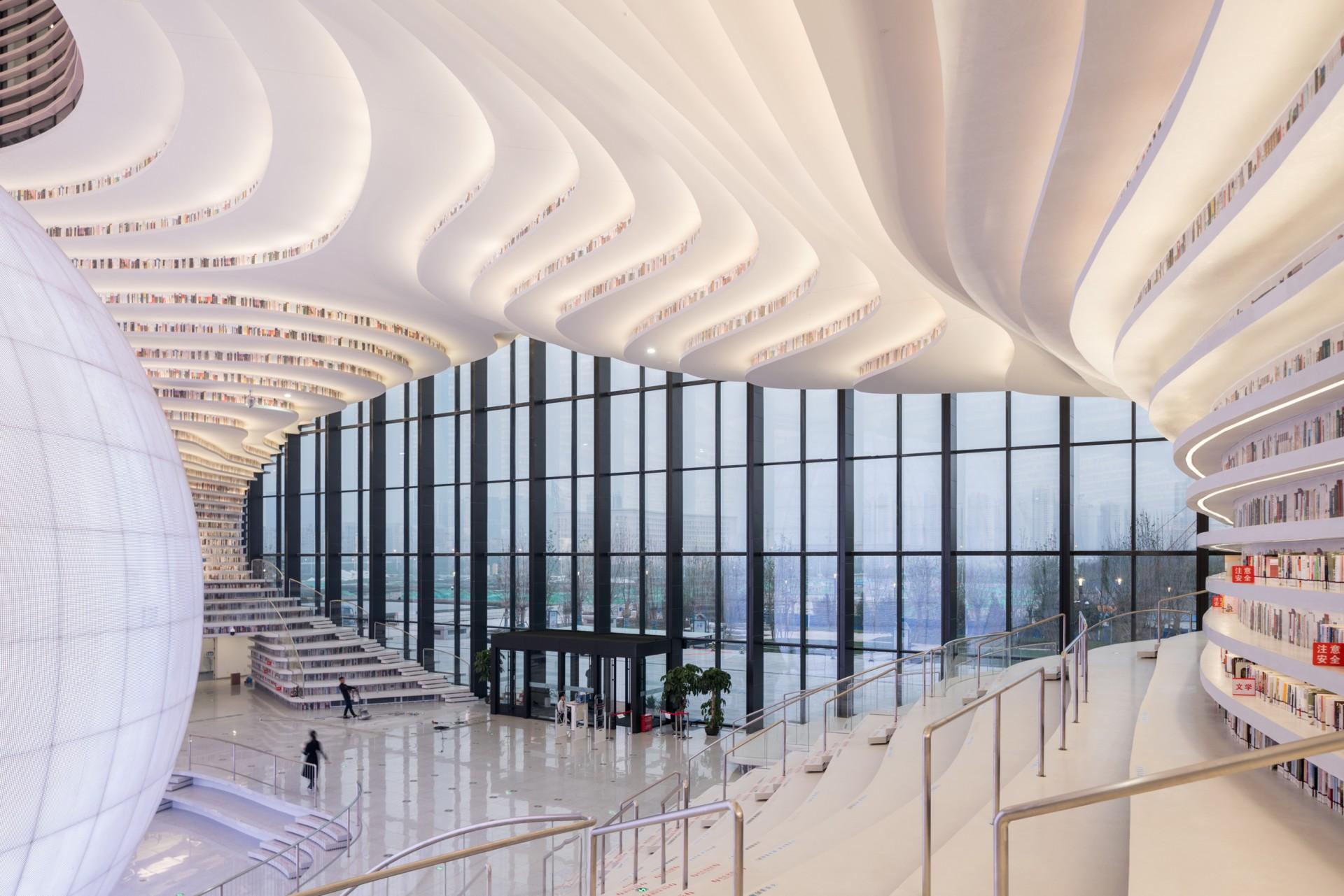 MVRDV Tianjin Binhai Library un oceano di libri