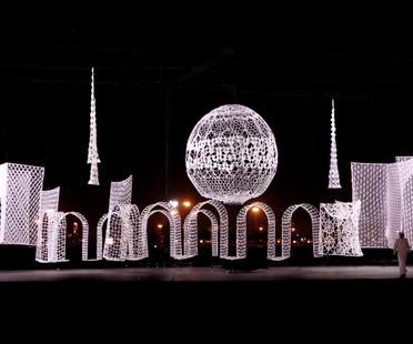 Merletti diventano Landmark Urbani nelle installazioni di Choi+Shine Architects