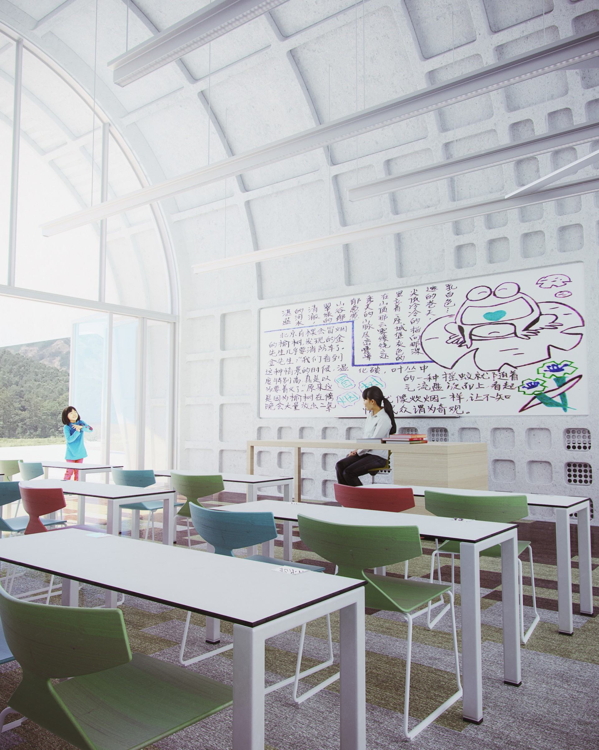 Zaha Hadid Architects Lushan Primary School tra la Cina e Milano