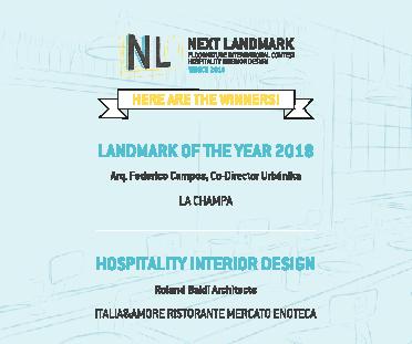 I vincitori di Next Landmark 2018