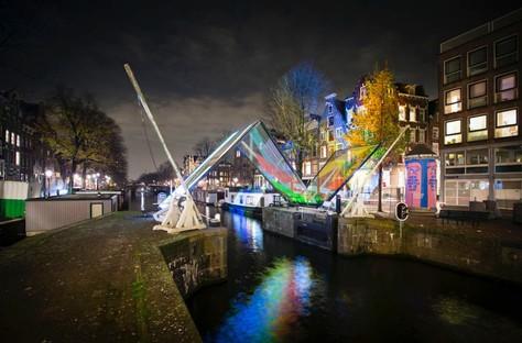 Opere artistiche e Architetture di luce ad Amsterdam, Montréal e Salerno