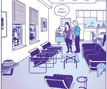 mostra Living in a Box: Design and Comics Vitra Schaudepot