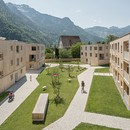 Feld72 complesso residenziale Maierhof vivere in comune con vista sulle montagne