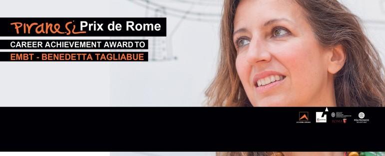 A Benedetta Tagliabue studio EMBT il Piranesi Prix de Rome alla carriera