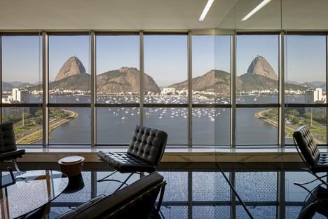 Reinach Mendonça Arquitetos Associados uffici con vista sul Pan di Zucchero Rio de Janeiro