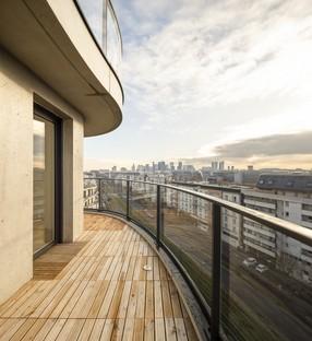 Christophe Rousselle Architecte Courbes edifici residenziali a Colombes Francia