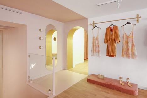 PuccioCollodoro Architetti un progetto Minimal Pop per Melania Caruso Flagship Store