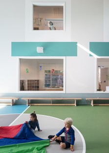Bovenbouw Architectuur Scuola materna a Edegem Belgio