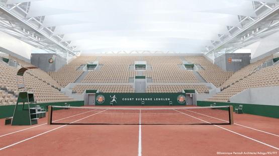Dominique Perrault Copertura Campo di Tennis Suzanne Lenglen al Roland Garros Parigi