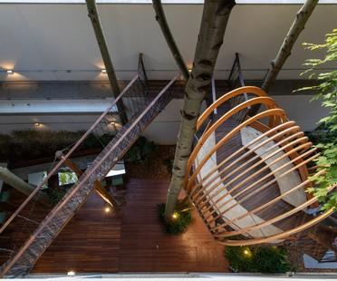Superlimão la nuova sede di Populos a São Paulo completa di casa sull'albero