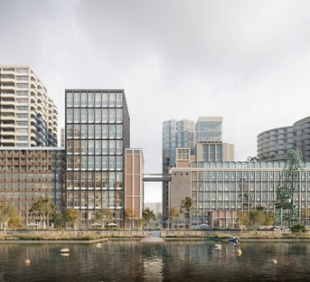 Powerhouse Company con SHoP Architects, Office Winhov, Mecanoo e Crimson per il nuovo masterplan di Rijnhaven Rotterdam