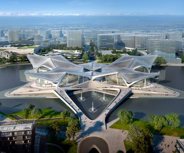 Zaha Hadid Architects Zhuhai Jinwan Civic Art Centre Cina