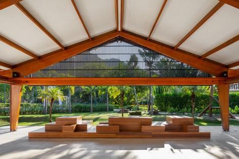 Reinach Mendonça Arquitetos Associados nuovo ingresso e social club Laranjeiras Condominium Rio de Janeiro