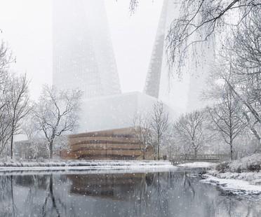 Snøhetta progetta Duett Düsseldorf nuovo hub culturale per Düsseldorf