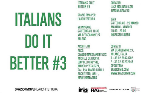 ITALIANS DO IT BETTER 3: L'architettura italiana all'estero