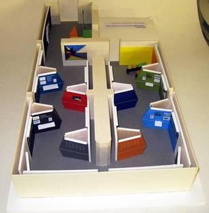 Plastico allestimento: plastico dell'allestimento mostra