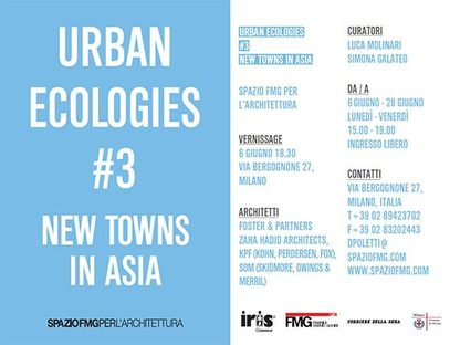 Urban Ecologies #3 new towns in Asia