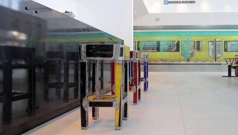 U-Bahn e ceramica in esposizione