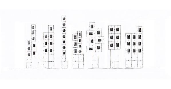 Schizzo progetto di allestimento di Paolo Ulian