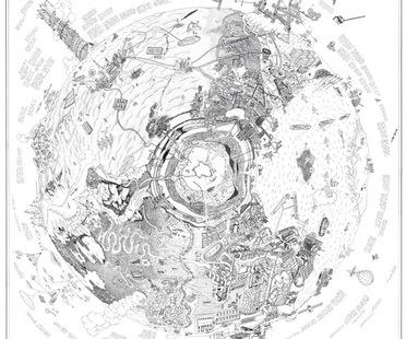 mostra Dalla Terra alla luna architetture e paesaggi immaginari su carta