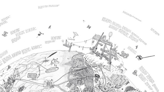 Raumlabor, Mappa Mundi, stampa su tela, 2011-2014