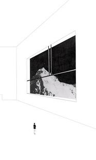 Miniatura, Apartamento de 1 km, dettaglio, tecnica mista e collage su carta,