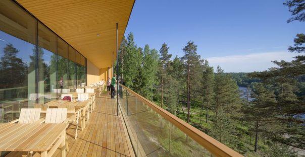 Lahdelma & Mahlamäki firma il Finnish Nature Centre Haltia a Espoo