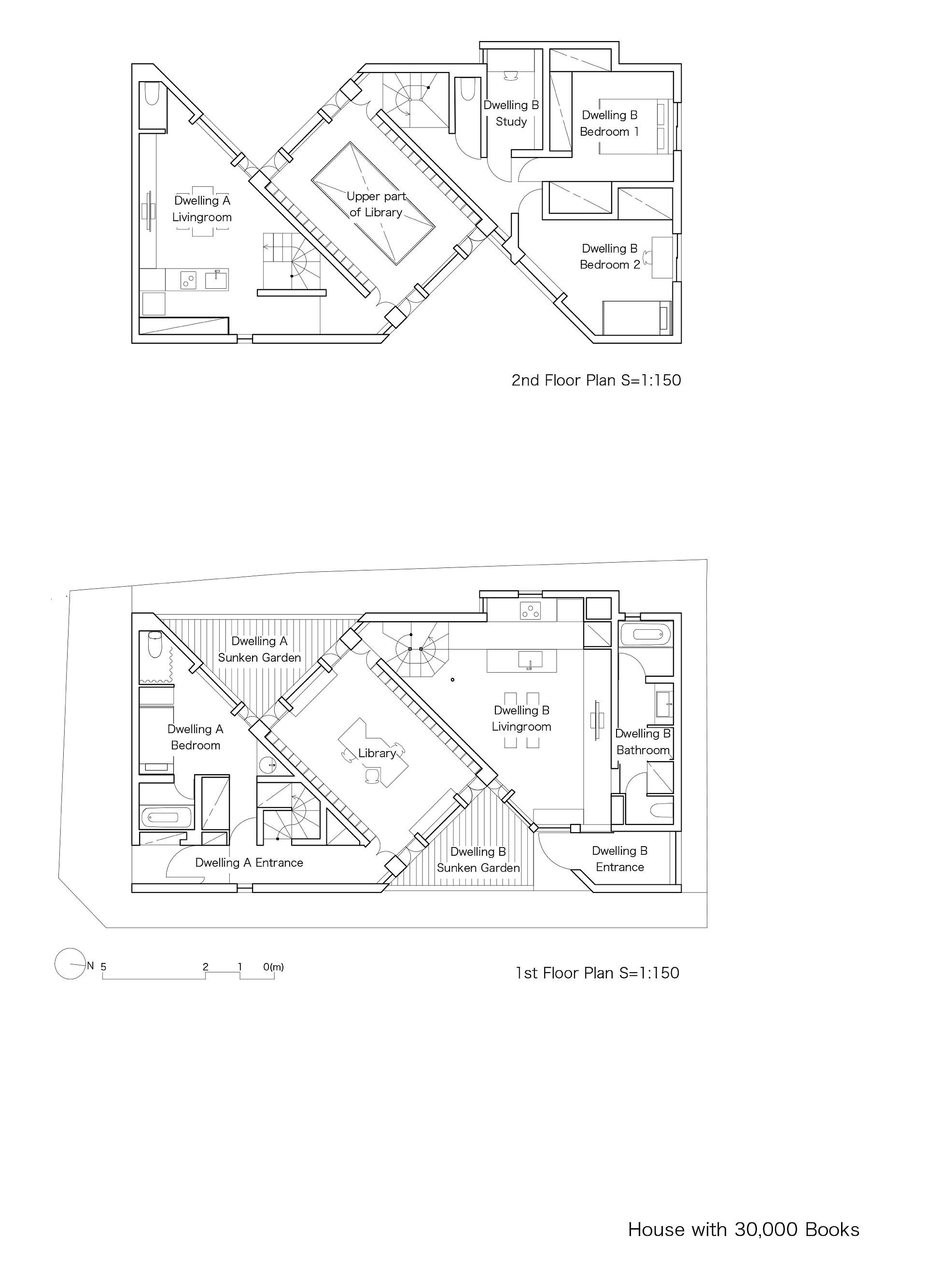 Takuro Yamamoto Architects: casa con 30000 libri a Tokyo
