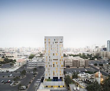AGi Architects: Wafra Vertical Housing, torre del vento a Salmiya