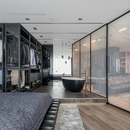 33 by architecture: Black is back, appartamento a Kiev
