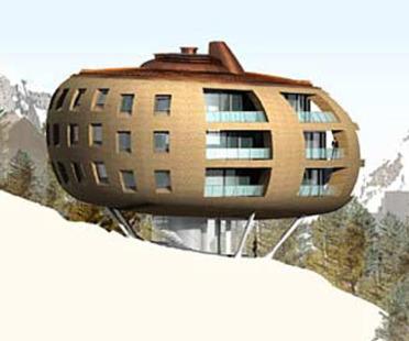 Foster & Partners:<br> Chesa Futura, Svizzera, 2000