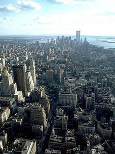 Le Torri Gemelle (Twin Towers) del World Trade Center a New York