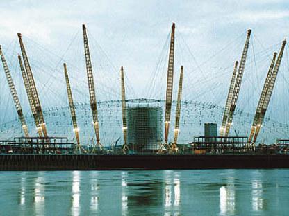Rogers-Hadid-Imagination<br> Millennium Dome, penisola di Greenwich, Londra, 1996-1999