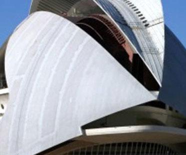 Valencia. Palazzo delle Arti<br> Santiago Calatrava. 2005