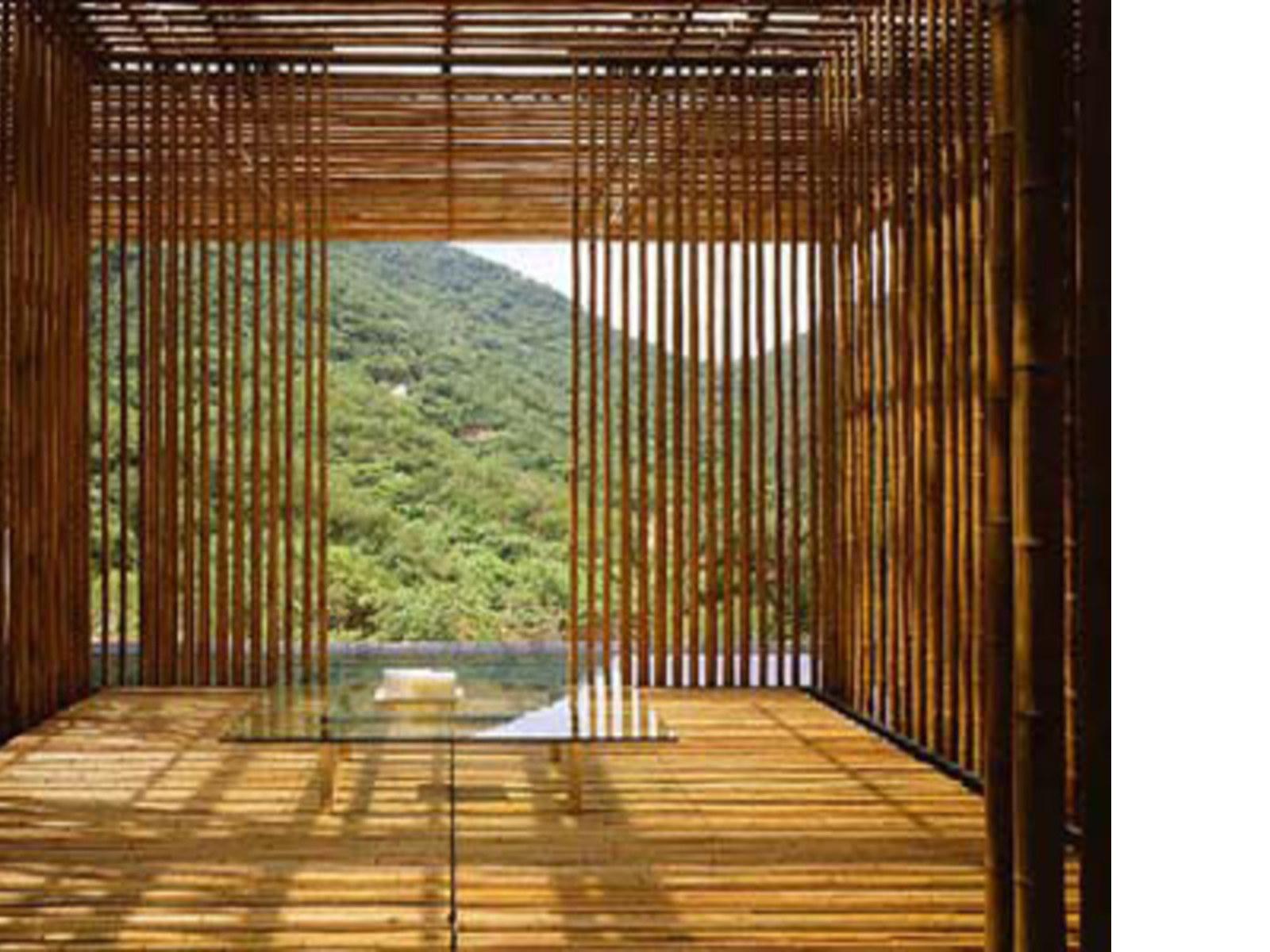 Bamboo house kengo kuma