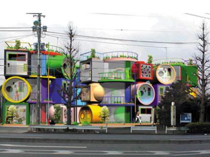Reversible destiny lofts. Tokyo. Shusaku Arakawa e Madeline Gins. 2005